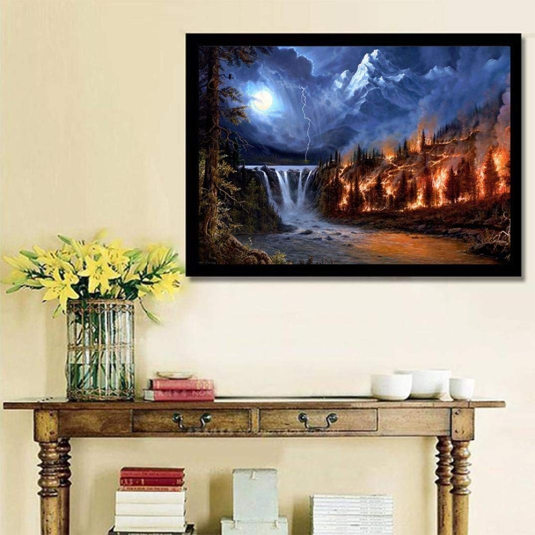 Pandaie To America!!! Forest 5D Diamond Painting Full Drill Kits for Adults Embroidery Cross Stitch(all 5% off, three 10% off)