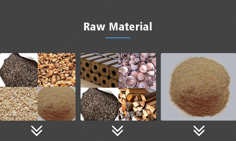 Wood Charcoal Sawdust Briquette Carbonization Furnace / Carbonizing Machine