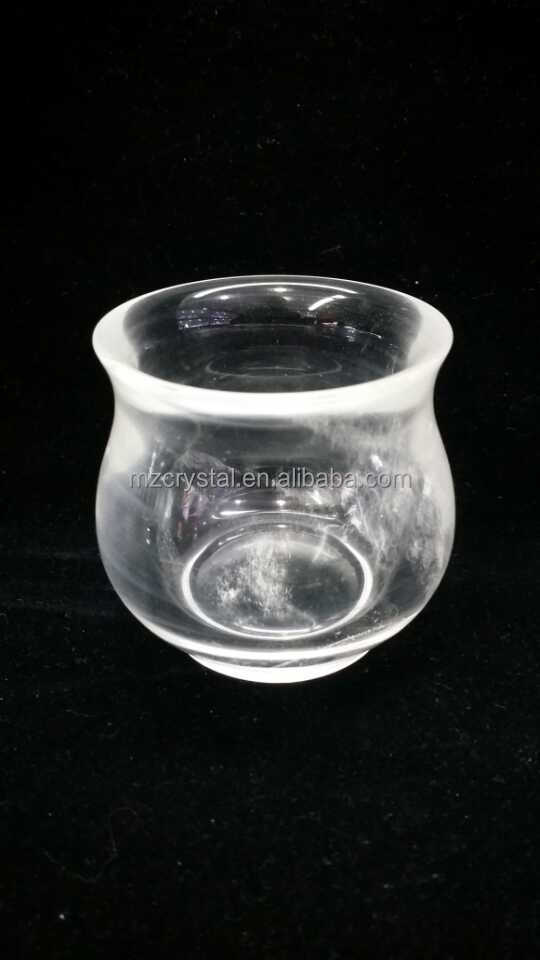 customized natural rock clear crystal bowls for crafts