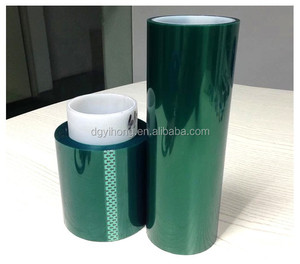Hot Sale Green PET Silicone Heat-Resistant Insulating Tape For 3d Printer Laminated Glass Masking