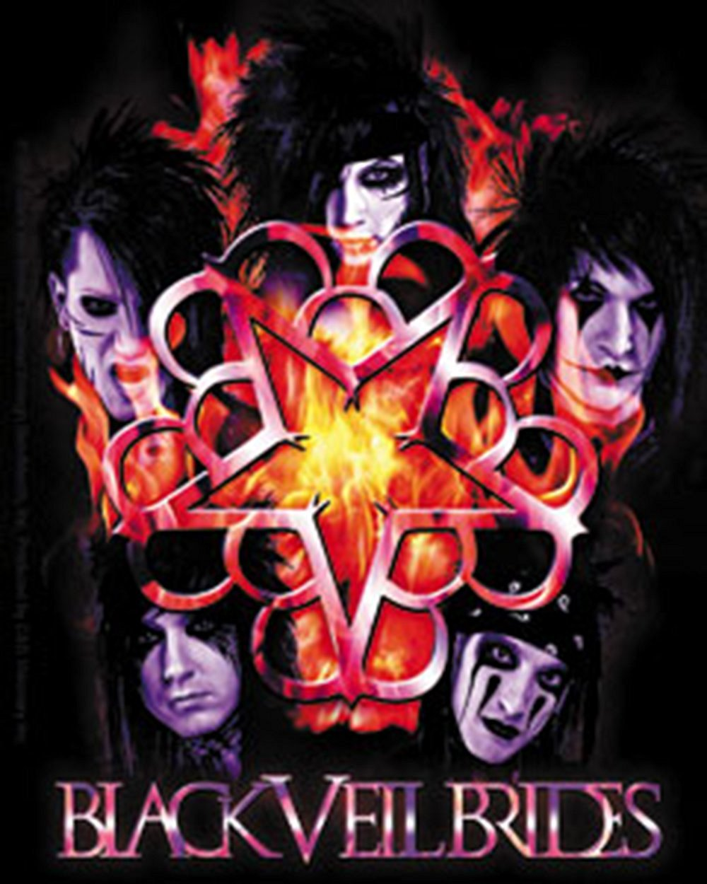 Licenses Products Black Veil Brides Inferno Sticker