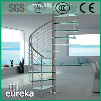 Low Cost Balustrade Railing Spiral Staircase Design