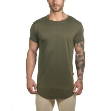 Personalizzato Coda Goccia Tee Curved hem <span class=keywords><strong>T</strong></span>-<span class=keywords><strong>shirt</strong></span> per uomo