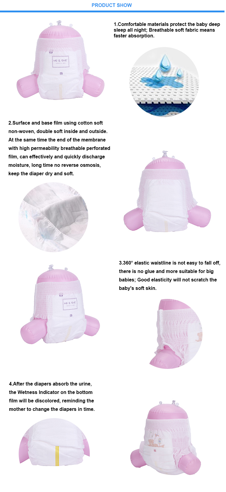 Favorable Price Wood pulp structure mother care baby diapers