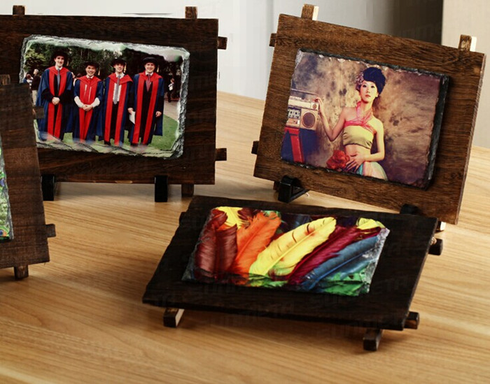 Sublimazione rock slate photo frame