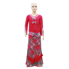 latest fashion design cute arabic red color muslim girls clothing