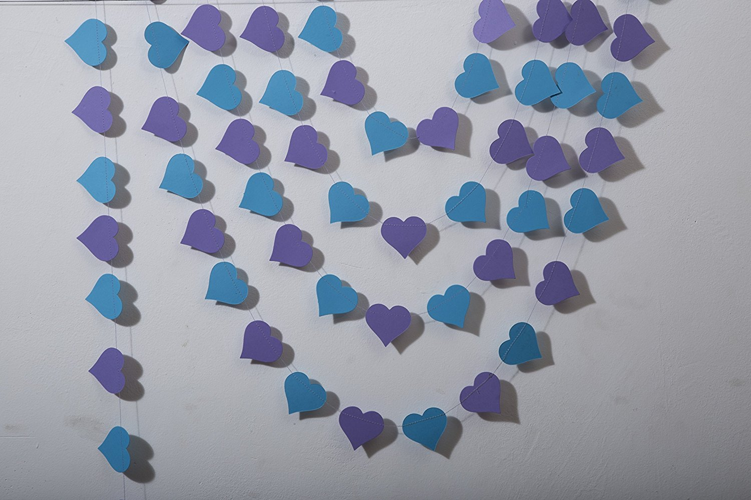 get quotations heart garland wedding garland wedding decoration purple turquoise heart garland peacock wedding