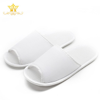 f364a8d4be6dca New EVA sole fabric non-slip white disposable hotel slippers