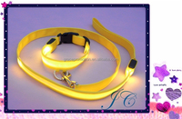 Best Sale Light Up Led Pet Leashes / Dog Collar With Fast Production