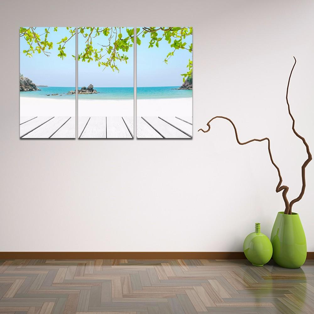 Hermoso Paisaje Marino Impresión de lienzo azul mar paisaje pared ...
