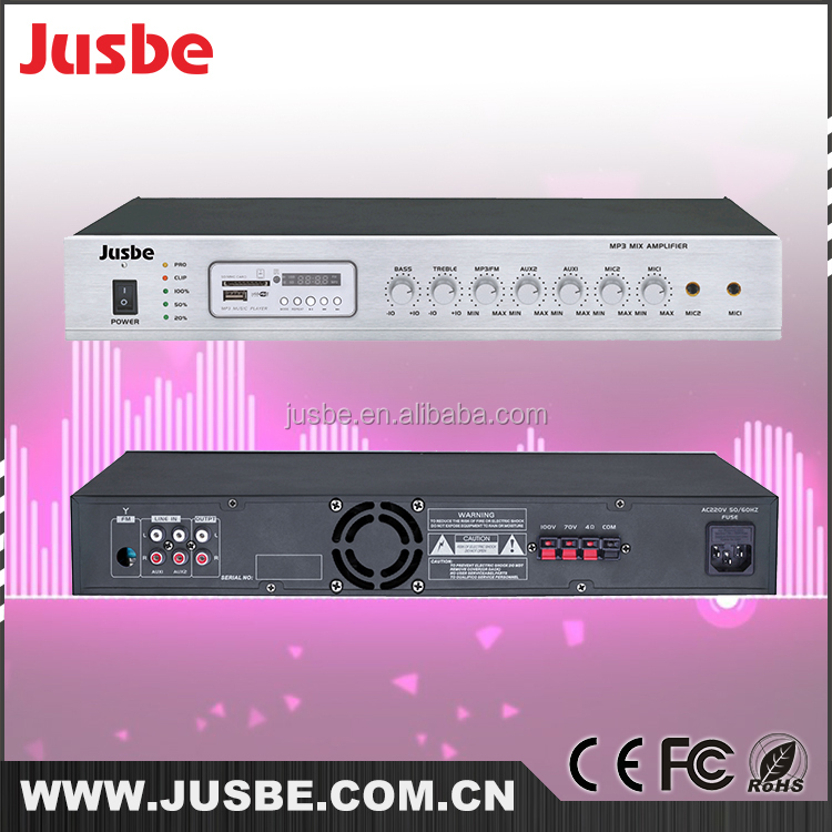Hot selling wholesale price PA system audio 1.5U PA amplifier with MP3 / FM tuner