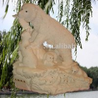 white marble polar bear statue(NM114)