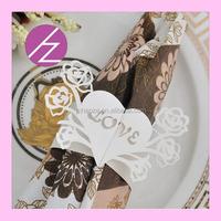 2017 unique design pearl paper napkin ring MJ29