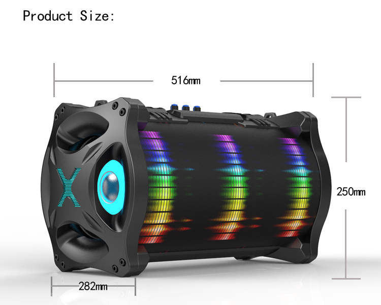 Factory OEM Service Karaoke Player Mobile Phone Outdoor clear sound Portable Wireless bluetooth bazooka speaker 2018