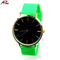 China promotion unisex gift jelly silicone wrist watch trend design quartz watch