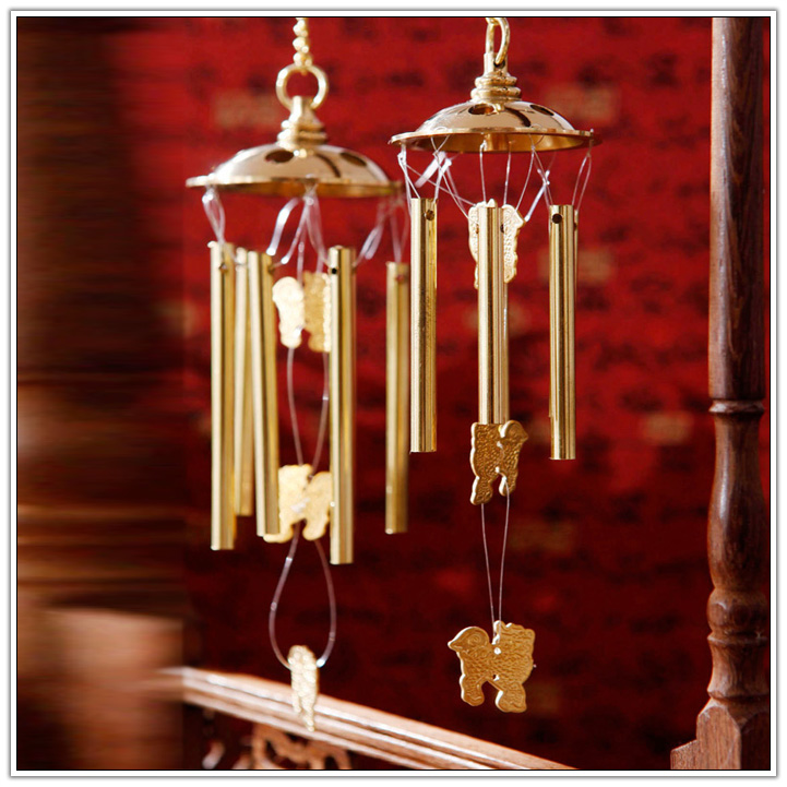Brass Wind Chimes Door Wall Hanging Home Dec, chilin wind chime
