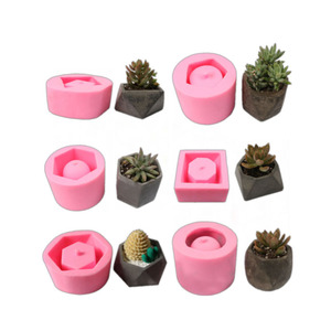 Cement Concrete Planter 3d Silicone Mold Candle vase mold Flower Pots 3d Decorations soap clay mould