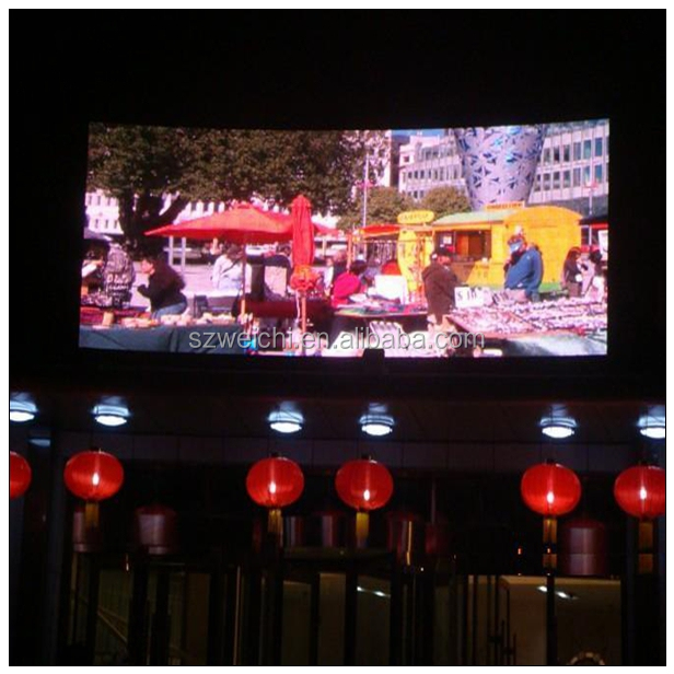 high power p16 full color led tv screen rental big mall