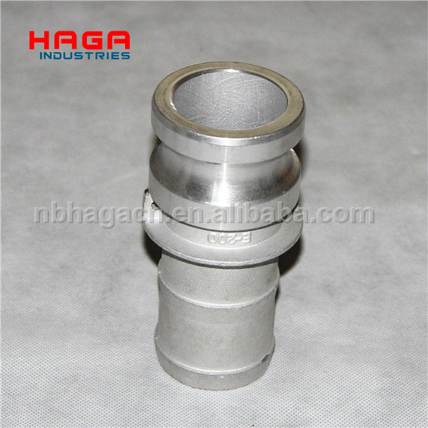 Aluminum quick coupler Type E (male adapter and hose shank)