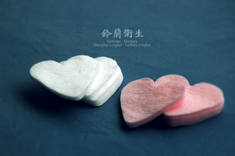 Lilybell heart cotton puff 60pcs Lovely shape