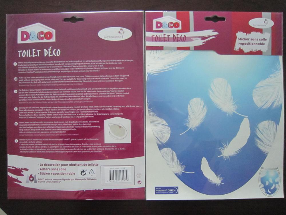 Waterdichte zee wereld ontwerp toiletbril cover sticker buy
