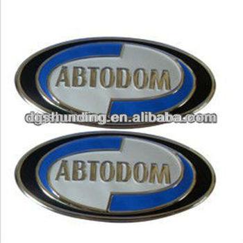 Custom design plastic chrome logo sticker view larger image