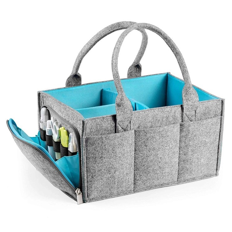 Amazon top sales mama kids vilt luier organisator baby caddy tote tas