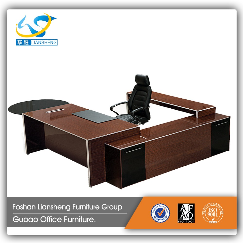 Modern U Shaped Executive Wooden Office Furniture Round Desk Ls32a