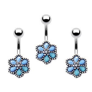 316L Surgical Stainless Steel Charm Dangle Belly Ring Fashion Piercing