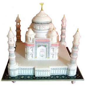 Handicraft Taj Mahal Custom made LED polyresin miniature souvenir buildings