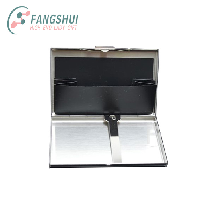 Aluminum rfid blocking metal business card credit card holder case with clip
