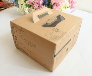 Designed Kraft Paper Birthday Rich Cake Boxes