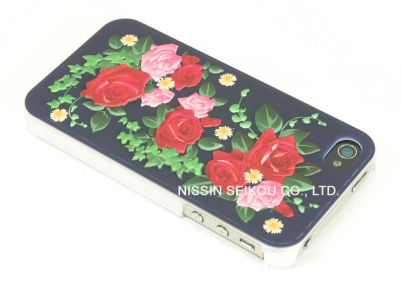 "Mobile Phone Case 3D ""NAVY BLUE ROSE"" Made in JAPAN"