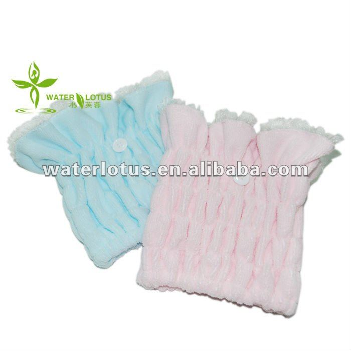 microfiber head wraps with lace popular elastic hair dry towels wrap