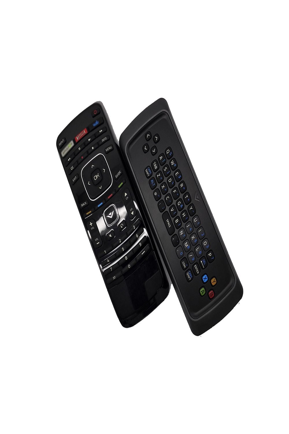 ECONTROLLY New Replaced Dual Side Keyboard QWERTY Remote XRT301 XRV13D for Vizio 3D TV with NETFLIX and More Apps Buttons