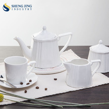 Ceramica bianca <span class=keywords><strong>Tazza</strong></span> di Caffè In Porcellana Tea Pot Set Con La <span class=keywords><strong>Tazza</strong></span> e Piattino