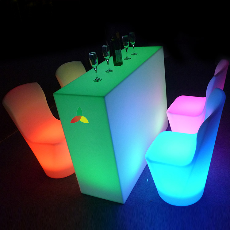 LED nightclub table, drinking party led table,lit bar table