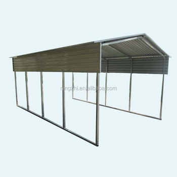 Outdoor Metal Carport For Cars / Steel Building Carport Garage ...