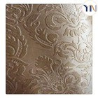 100% polyester embossed suede blackout fabric for hotel curtains, permanent flame retardant, 3pass blackout curtain fabric