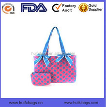 New Fashion soft tote style diaper bags with fabric Top selling quilted diaper bags with tote