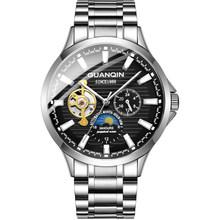 GUANQIN 2020 мужские часы лучший бренд Роскошные автоматические часы турбийон водонепроницаемые механические наручные часы relogio masculino(Китай)