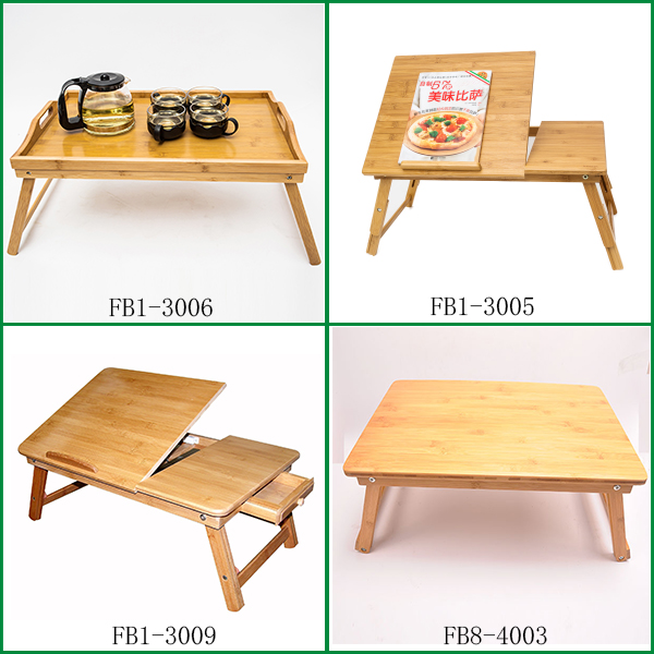 Fuboo Bamboo Folding portable computer desk bamboo serving tray