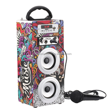 Audio Kayu Nirkabel Musik Portable Mini Kayu 10 W <span class=keywords><strong>Karaoke</strong></span> <span class=keywords><strong>Speaker</strong></span>