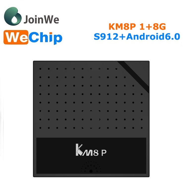 2017 New Arrival mini box Km8 P Android6.0 Amlogic S912 tv box 1g/8g Km8p play store app free download