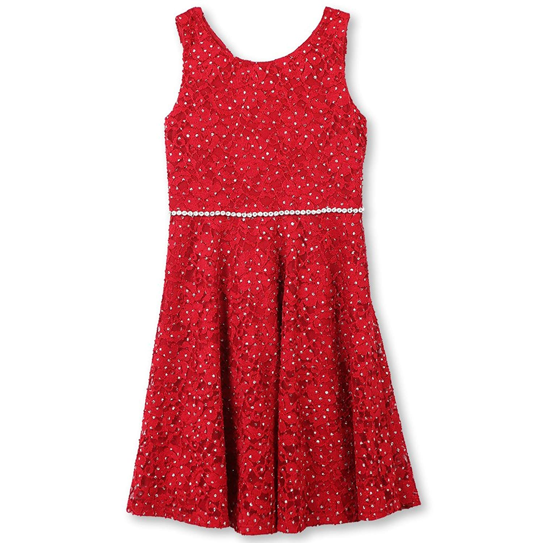 8b4ce0948 Buy Tween Girls 7-16 Fuchsia Crochet Lace Back Stripe Knit to ...