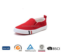 uk stylish design wholesale best brand cheap casual men red slip on comfortable sole thin bottom plimsoll canvas shoes