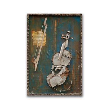 Original Abstract Violin Musical Metal Wall Art - Buy Violin Musical ...