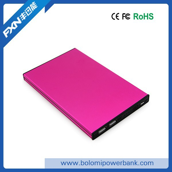 High capacity mobile phone battery power bank 20000mah, super fast charging rechargeable mobile phone charger