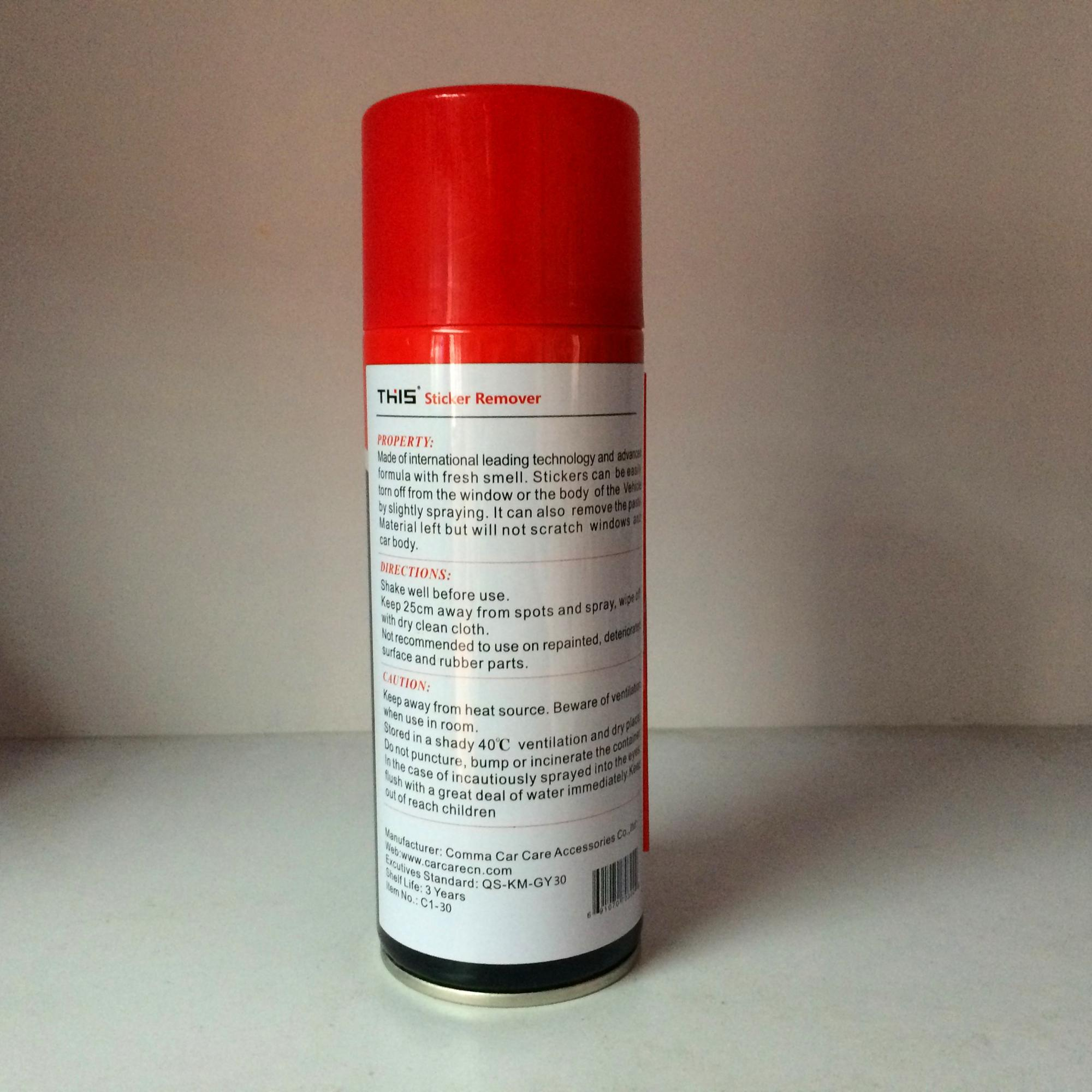 China automotive wholesale best goo gum decal sticker adhesive label glue remover spray from car
