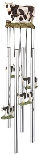 StealStreet SS-G-41928, Round Top Cow Hanging Garden Porch Decoration Decor Musical Wind Chime